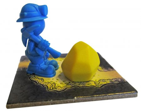 Blue Miner and Gold Nugget